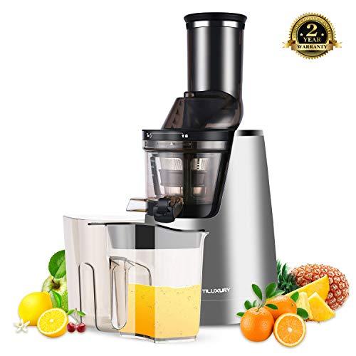 Tiluxury Licuadora Exprimidor De Frutas y Verduras,Slow Juicer – Exprimidor eléctrico,Exprimidor para frutas y verduras Prensa, frutas, verduras, safter eléctrica