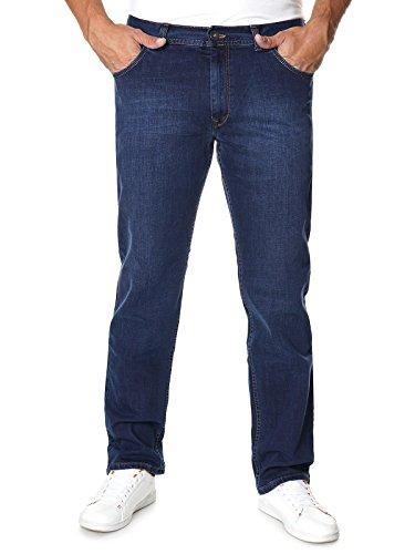 Stanley Herren Jeans Hose Straight Fit Übergröße Blau 400-139 22658 W39-112 cm L30