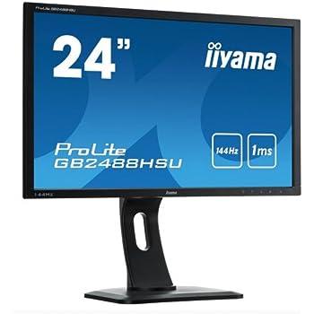 """Iiyama Prolite GB2488HSU-B1 Ecran Gamer 24"""" PC LED Full HD 144 Hz 1920 x 1080 1 ms VGA/DVI/HDMI/USB/Jack"""