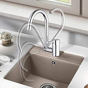 Cobre fino Rotación Caliente y fría No bloqueando la ventana Grifo de la cocina Ventana interior Creatividad plegable…
