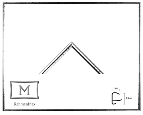 Iowa Kunststoff-Bilderrahmen 44x84 cm Posterrahmen 84x44 cm Farbwahl jetzt: Silber Antik mit 1 mm Acryglas klar
