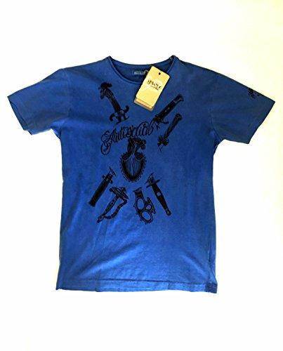 Yes Zee T-Shirt maglietta mod.T709 Taglia M col Blu