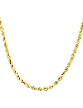 Revoni - 9 Karat Gelbgold Goldseil-Halskette mit 46 cm Länge