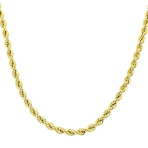 Citerna 9 ct Yellow Gold Rope Chain Necklace of 18 inch/46 cm Length