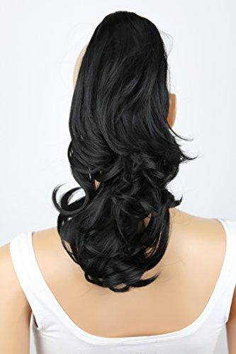 Einer Ballerina Kostüm Teile - PRETTYSHOP Voluminöses Haarteil Hair Piece Pferdeschwanz Zopf Ponytail ca 35cm diverse Farben (schwarz H88_1)