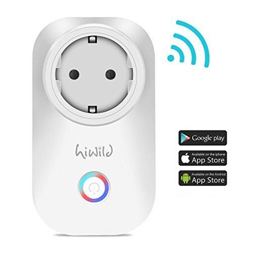 Intelligent presa Wi-Fi, HiWild EU spina lavoro con Amazon Alexa per iOS Android app non necessari Hub WiFi controllo tutti i tuoi dispositivi ovunque tu sei