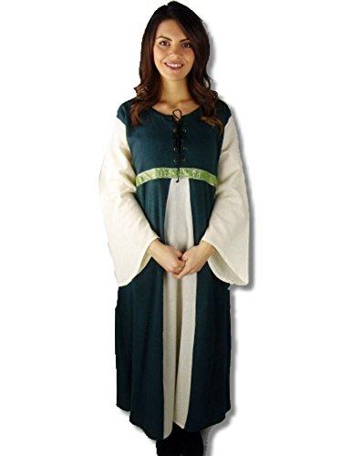 Leonardo Carbone Mittelalter Kleider kleine Maid - Kinder Adelskleid - Kinder Piccola Donna XS/grün / natur