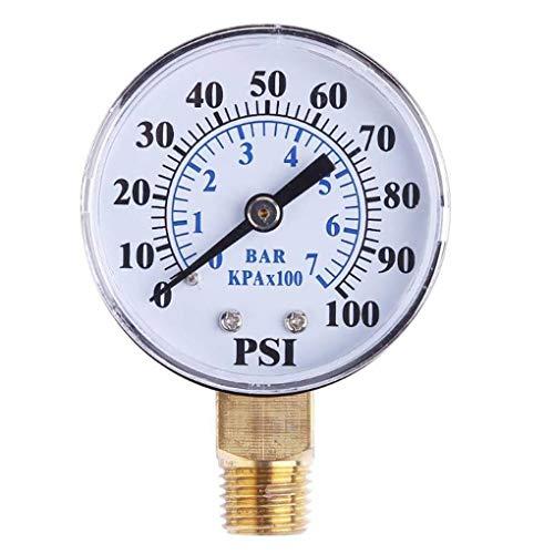 Level 0-100psi 0-7bar 1/8-Zoll NPT Gesicht Seitenmontage Manometer Dial-Luftverdichter Meter Hydraulikdruck Tester Messgerät -