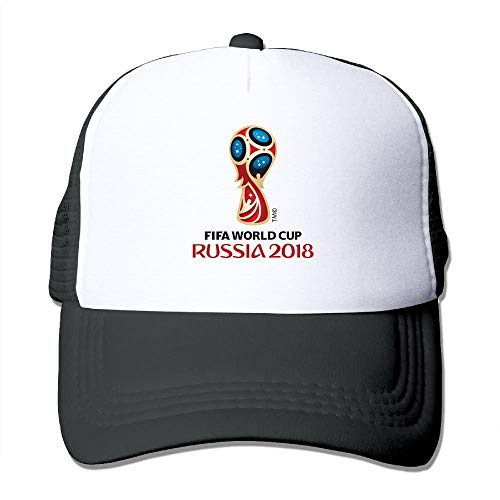 DD Decorative miaomiao 2018-Russia World-Cup Logo Trucker Caps Mesh Hats with Solid Colors and Adjustable Strap for Women & Men Polyester Hat Unisex Cap -