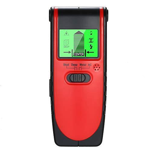 Stud Finder Wandscanner zum Auffinden von Metall - Holz - AC - Firewire - Detektor - Einfache automatische Kalibrierung mit digitalem LCD - Display und akustischer Warnung -
