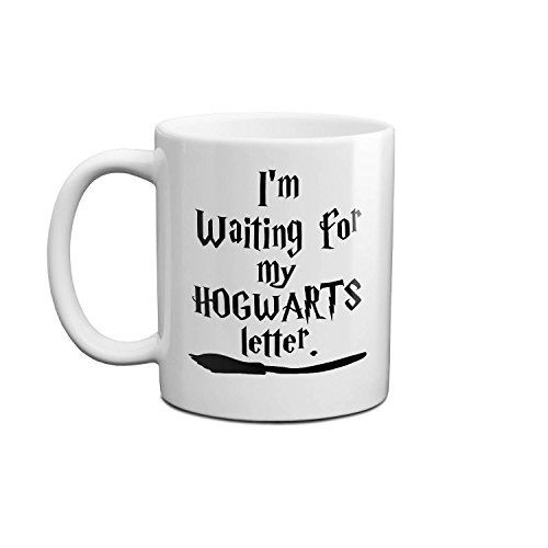 I'm Waiting For My Hogwarts Letter Harry Potter Style Logo Coole Tasse Keramische Mit Griff Weiß Becher 11oz/312ml Für Tee Wasser Milch Kaffee