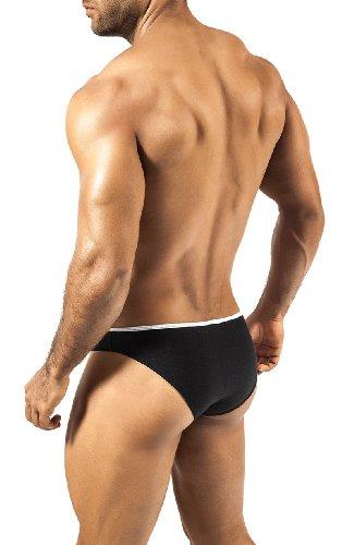 JOE SNYDER PRIDE FRAME Bikini Slip schwarz/neontürkis