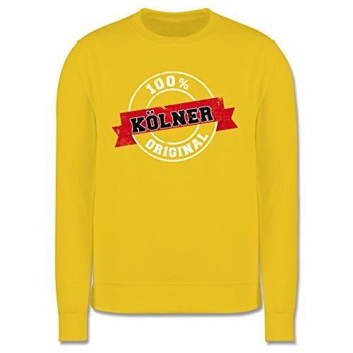 Städte - Kölner Original - Herren Premium Pullover Gelb