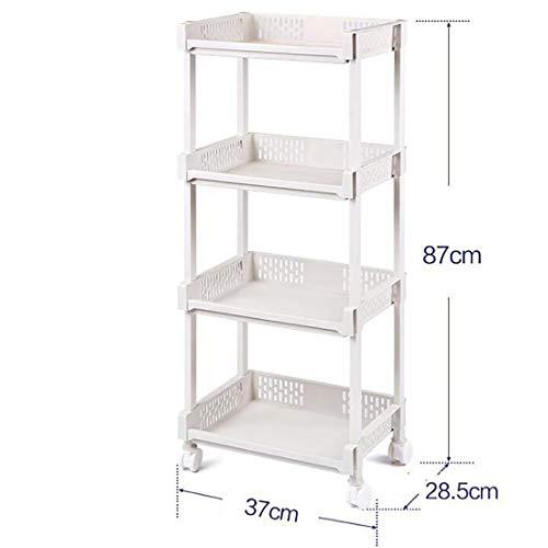 TBANG Küchenregal Balkon Schlafzimmer Lagerung Mehrschichtige Lagerung Kleinigkeiten Regal Metallboden (Design : 4, Size : S) -