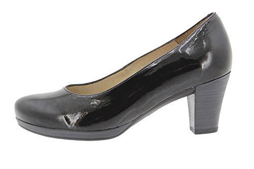 PieSanto Komfort Damenlederschuh 9301 Pump Schuhe Bequem Breit Negro