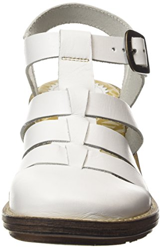 FLY London Celos511fly, Sandales Plateforme femme Blanc Cassé - Off White (OFFWHITE)