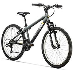 "AFX Bicicleta MTB Junior 24"" Rohan, Color gris"