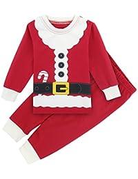 Mombebe Pijamas Navidad Niño Duende Infantil Inverno Ropa Set