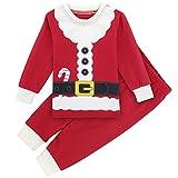 Mombebe Bebé Niño Navidad Conjunto De Pijamas Papá Noel Ropa De Dormir (Papá Noel, 12-18 Meses)
