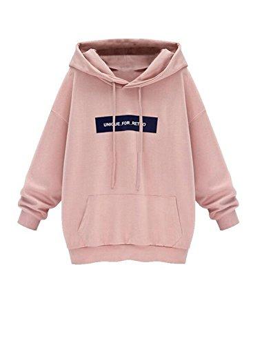 Minetom Donne Dolcevita Caldo Cappotto Giacca Felpa con Cappuccio Cappuccio Sweatshirt Hoodies (IT 42, Pink)