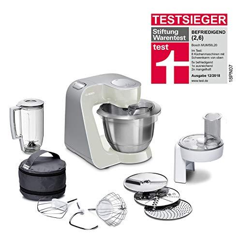 Bosch MUM58L20 CreationLine Küchenmaschine, Edelstahl, 3.9 liters, grau/silber