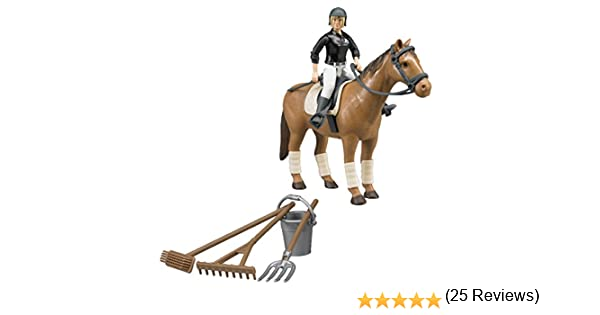 Bruder Horse Jump Parcours With Horsewoman and Horse 1:16