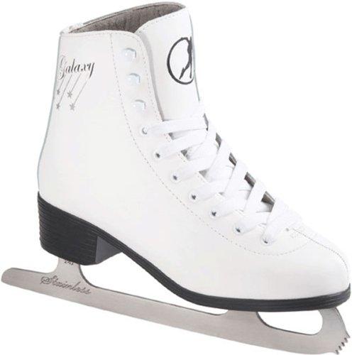 SFR Skates Galaxy Patines Sobre Hielo, Hombre, Blanco / (White), 42