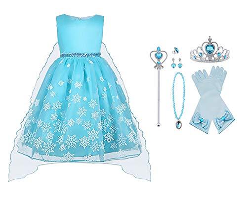 Vicloon Disfraz Princesa Elsa/Capa Disfraces/Belle
