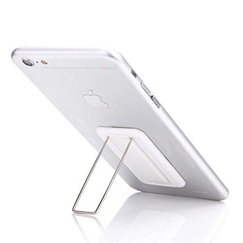 Nützliches 2-in-1-Accessoire für Ihr Smartphone: Aufklebbarer Halter/Ständer für Smartphone/Handy - Perfekter Halt - kein Verrutschen mehr - Schlaufe für Finger - Bequem Filme schauen