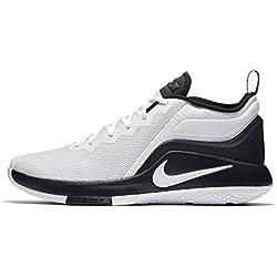Nike Lebron Witness II White Black, Zapatillas de Deporte Unisex Adulto, Blanco (Blanco), 42.5 EU