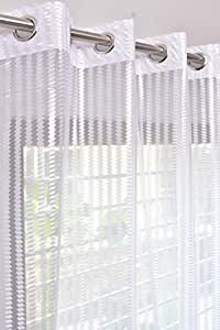 Homefab India 2 Piece Polyester Door Sheer Curtain - 7ft, White
