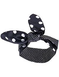 Schwarzes Haarband weisse Punkte extra breit (11x ca.93 cm) Rockabilly auch als Nickituch