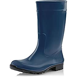 Ladeheid Botas de Agua para Mujer LA-967 (Azul Oscuro/Negro, 37)