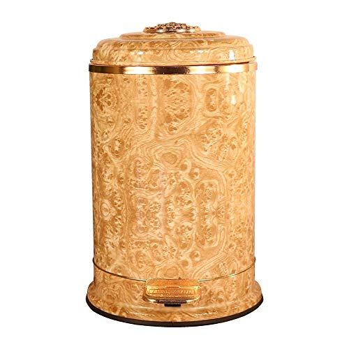 Rubbish Can Antike Mülleimer, Edelstahl Pedal Typ Silent mit Deckel Mülltonne Dekoriert Wohnzimmer Schlafzimmer Badezimmer (größe : 6l)