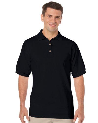 Gildan Mens Dryblend Jersey Polo Colour=black Size=m