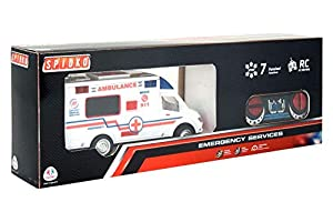 GLOBO- R/C Ambulance W/Light/Sound/Full Function (38924), (1)