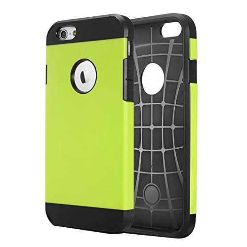 JING Pour iPhone 6 / 6s, Housse de protection rigide pour PC + TPU Tough Armor Color Hard ( Color : Grey ) Green