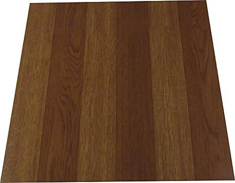 Vinyl Floor Tiles Self Adhesive 305mm x 305mm Brown Oak Planked Wood Effect by Payless Trading® (0.25 Sq. Metre (3 Tiles))