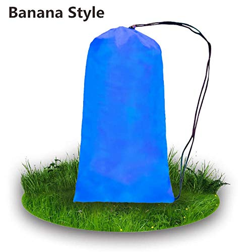 YYXDSG 240 * 70 cm Isomatte Faul Tasche Aufblasbare Air Sofa Nylon Laybag Air Tragbare Strand Bett Pad Faul Sofa Liegestuhl Lounge@Saphir-Banane (Taft Perlen)