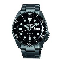 ساعة سيكو 5 فيس ليفت، مقاومة للماء حتى 10 بار مع تقويم، مينا اسود للرجال SRPD65K1