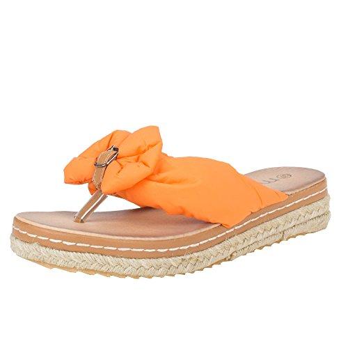 Damen Schuhe, HY81-1, SANDALEN Orange
