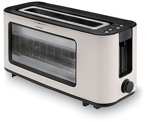 TKG TO 1012 KTO Design-Langschlitz-Glas-Toaster mit Quartz-Heizelement, creme