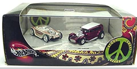 Ed Big Daddy Roth's BEATNIK BANDIT & Darryl Starbird's LIL COFFIN * Limited Edition * Hot Wheels 2002 BLOOD SWEAT & GEARS 1:64 Scale 2-Car Box Set by Hot