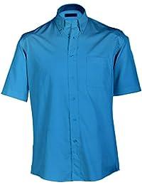JAMES & NICHOLSON - chemise manches courtes popeline - repassage facile - JN065 - Homme