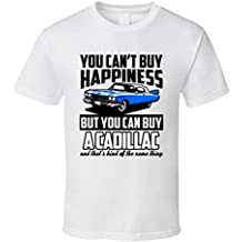 Blue 1959 Cadillac DeVille You Cant But Happiness Cool Car T Shirt XXXX-L