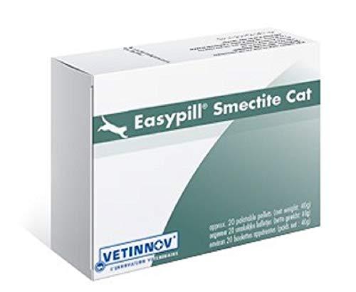 Easypill Smectite es un suplemento dietético contra la diarrea del gato hecha de arcilla verde.