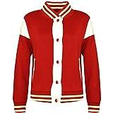 A2Z 4 Kids® Kinder Mädchen Jungen Baseball Jacke Universität Stil - B.B Plain Jacket 001_Red 11-12