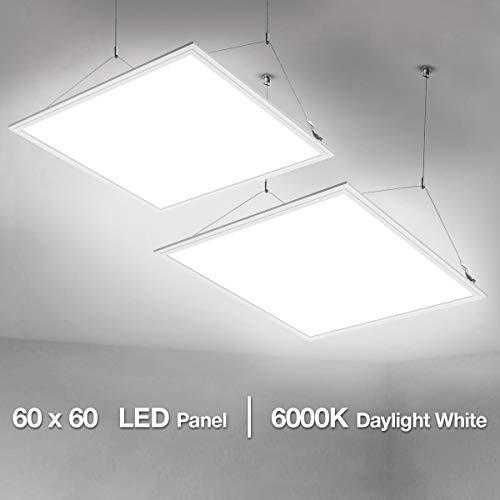LE 60x60cm LED Panelleuchten Deckenleuchte Büroleuchte, Kaltweiß/6000K/4000lm/40W, Ersatz für 80W Leuchtstoffröhren, 2er Pack -