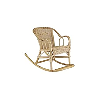 Aubry Gaspard Rocking Chair Rattan for Her Child 41x75x52cm
