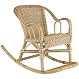Rocking chair chloé pour enfant en rotin 41x75x52cm